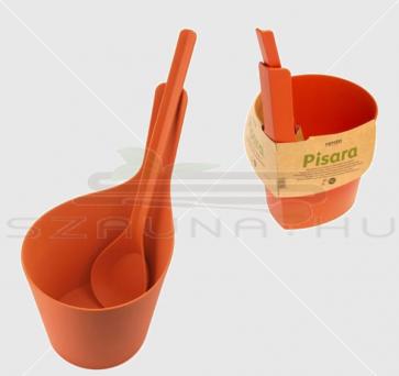 Rento biokompozit 7 literes dézsa és kanál szett, narancs színű
