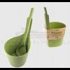 Rento biokompozit 7 literes dézsa és kanál szett, zöld színű